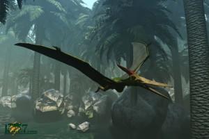 ジャングルと翼竜(化石セブンオリジナルCG)