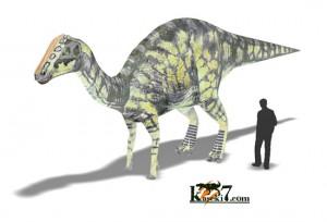 ハドロサウルス(化石セブンオリジナルCG)