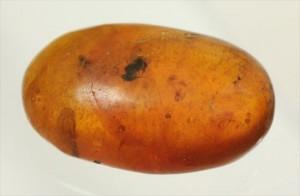 ドロップ飴にそっくりですが、琥珀です。ドミニカ産の虫入り琥珀(Amber