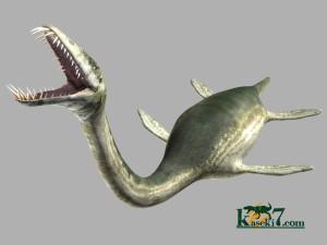 凶暴なエラスモサウルスの歯(化石セブンオリジナルCG)