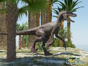 白亜紀の獣脚類デイノニクス(Deinonychus)