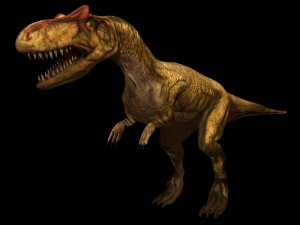 テタヌラ類アロサウルス そもそもなぜ恐竜はこんなピンとした長い尾を持...  化石セブンの最新情