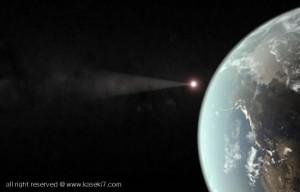 地球に近づく隕石