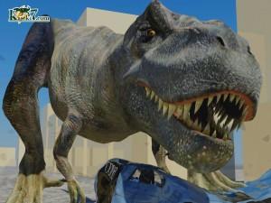 巨大肉食恐竜ティラノサウルス(化石セブンオリジナルCG)