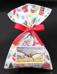 化石クリスマスラッピング例