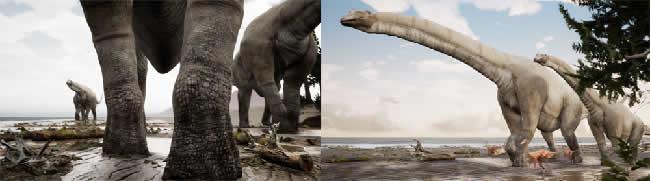 NHK BSプレミアム「オーストラリアで南極の秘密に迫る」にて、恐竜およびシーンの制作