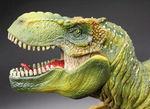 本物化石1個付き!ティラノサウルス恐竜フィギュア(アゴ可動式・送料無料・ラッピング無料)
