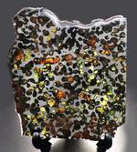 最大部13センチ超えの、大判標本!オリーブグリーンの箇所あり!宇宙より飛来したロマンの塊、ケニア産パラサイト隕石