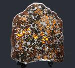 大きい、本体最大部15センチ!最も美しい隕石の一つ、2016年に発見された新しいパラサイト隕石、ケニヤ産パラサイト隕石(本体防錆処理済み)