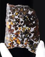 人気!縦9センチの立派な標本、ケニヤ産パラサイト隕石(本体防錆処理済み)