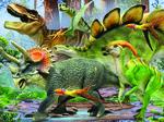 クリスマスプレゼントにいかがでしょうか?立体的!恐竜3Dジグソーパズル100ピース(本物化石1個つき、送料無料、ラッピング無料)