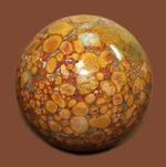 鉱物コレクター必見!凄い柄で見るものを圧倒するキングコブラジャスパー(Orbicular Jasper)。またの名をオーシャンジャスパー。