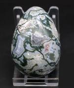 レア!通常結晶と潜晶質が同居する、いわゆるドルジー、見事なグリーンを呈する、その名も、モスアゲート(Agate)