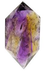 非常に発色の良い高品位の天然アメトリン(Ametrine)。あざやかな紫と黄をお楽しみください。