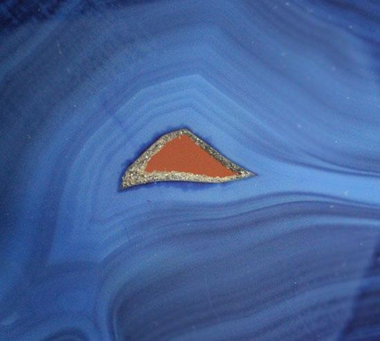 青にもいろんな青がある!鉱物ブルーメノウのグラデーション標本(Agate)/ 【ot766】