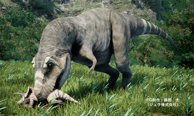 肉を漁るティラノサウルス・レックス
