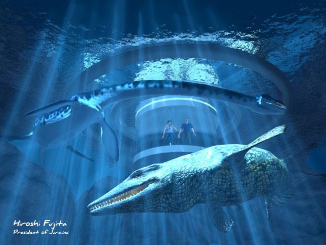 未来の水族館の想像図。CG制作:藤田 大(ジュラ株式会社)