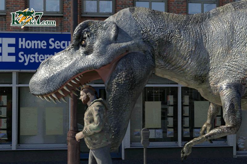 ティラノサウルスの大きくて頑丈な頭
