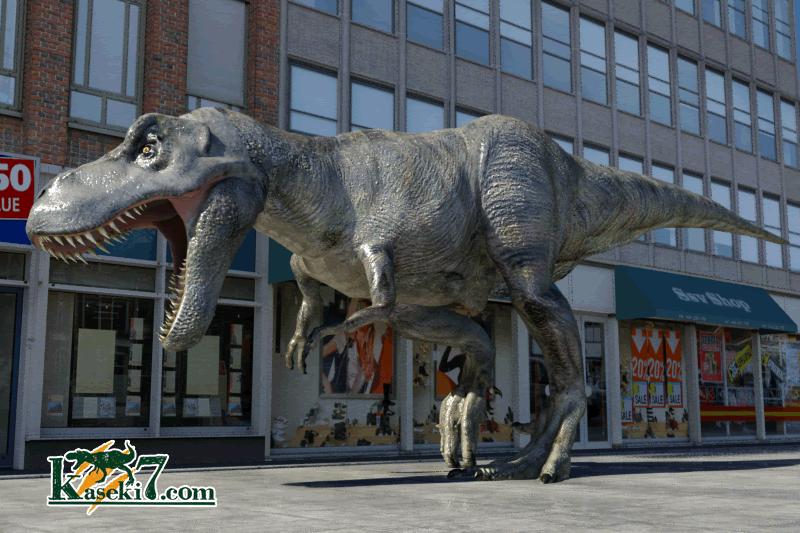ティラノサウルス・レックス成体街の中。