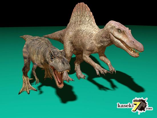 スピノサウルスでかすぎティラノがんばぁ