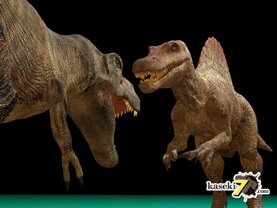 うーん。でもスピノサウルスの顔もかなり大きい。怖い
