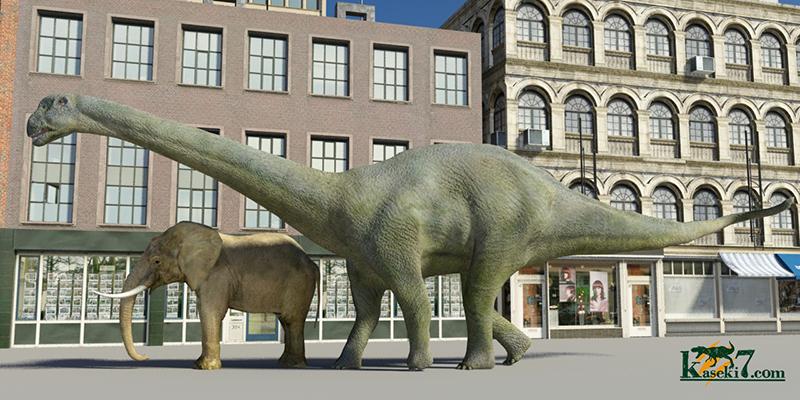 カマラサウルスとアフリカゾウ