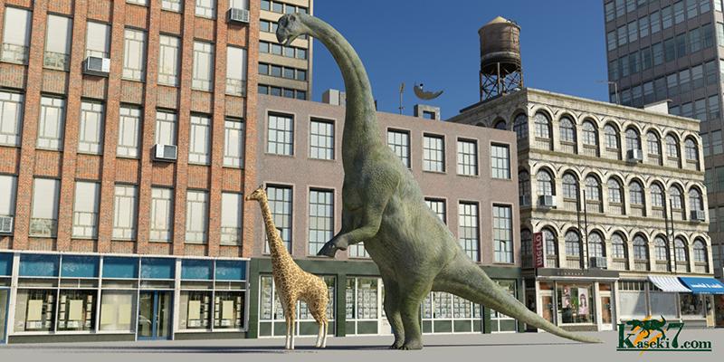 カマラサウルスとキリンの比較